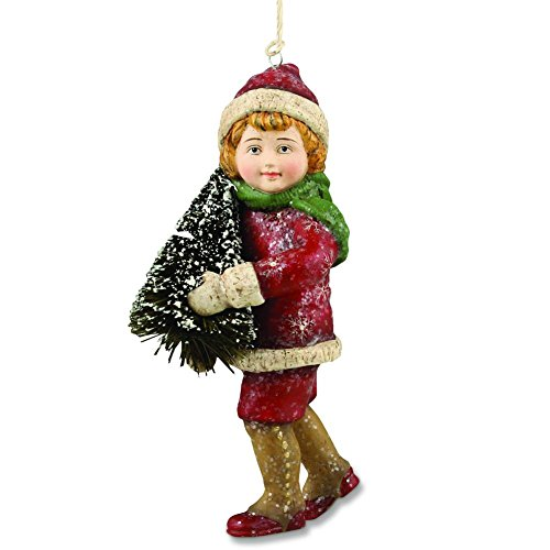 Bethany Lowe Boy with Tree Ornament