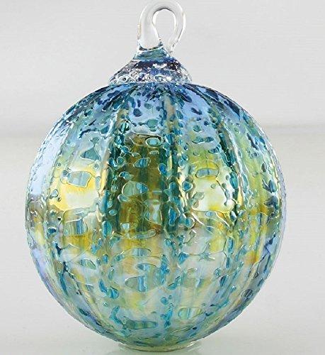Glass Eye Studio Teal Luster Glass Ornament