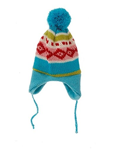 8.75″ Merry & Bright Nordic Blue Knit Ear Flap Winter Hat Christmas Ornament