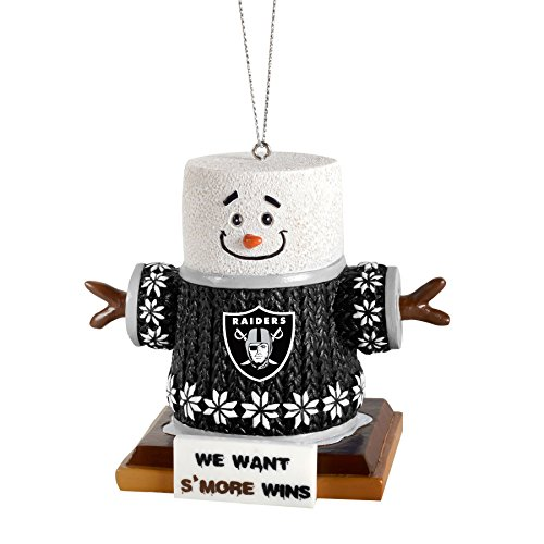 2015 NFL Football Team Logo Smores Holiday Tree Ornament – Pick Team (Oakland Raiders)