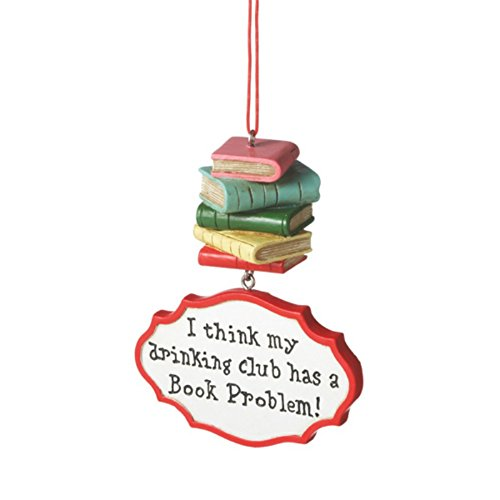 I Think My Drinking Club Has a Book Problem Christmas Ornament