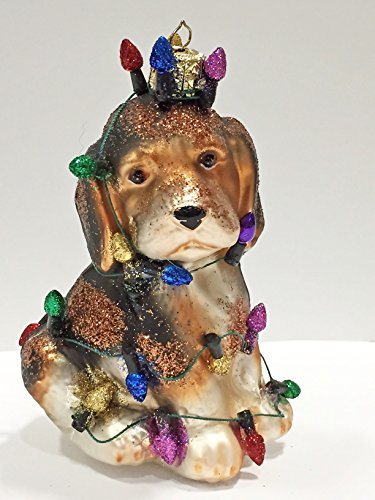 Ornaments to Remember: BEAGLE PUPPY (Christmas Lights) Christmas Ornament