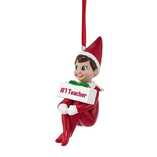 Department 56 Elf on The Shelf No.1 Teacher Ornament