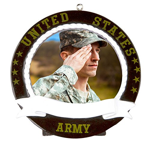 Army Picture Frame Personalized Christmas Tree Ornament