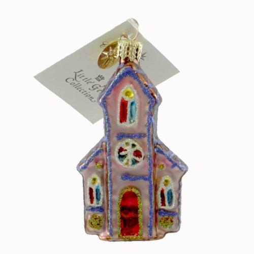 Christopher Radko GINGER CHAPEL GEM Blown Glass Ornament Religious Church