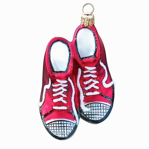 Ornaments To Remember High Tops (Red) Hand-Blown Glass Ornament