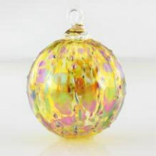 Glass Eye Studio Gold Luster Glass Ornament