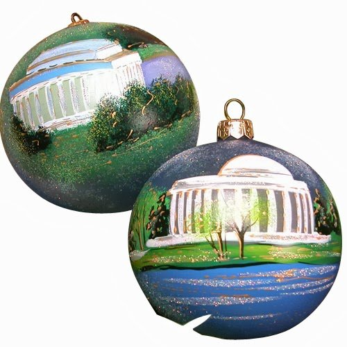 Ornaments to Remember: LINCOLN AND JEFFERSON MEMORIAL Christmas Ornament