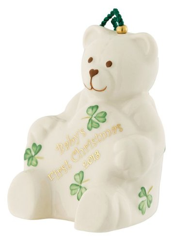 Belleek 4115 2013 Baby's First Christmas Ornament