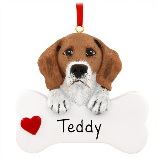 Personalized Pet Beagle Dog Christmas Ornament