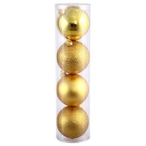 Vickerman 4-Piece Assorted Finish Ornament, 3-Inch, Gold, 16 Per Box