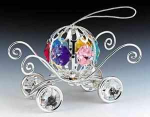 Cinderella Coach Carriage Ornament, w/ Swarovski Prisms