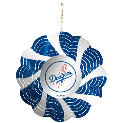 LA Dodgers Geo Spinner Christmas Ornament