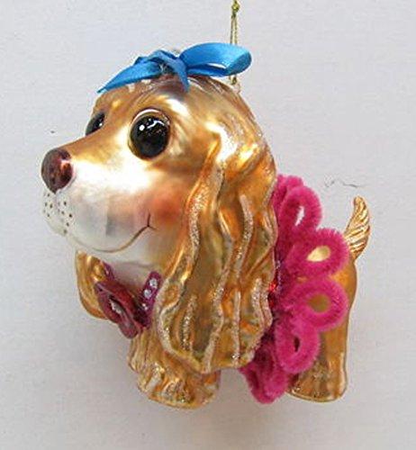 December Diamonds Blown Glass Ornament – Cocker Spaniel