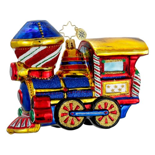 Christopher Radko Glass Chugga Chugga Woo Woo Train Christmas Ornament #1015980