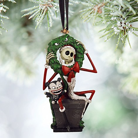 Disney 2015 Sketchbook Jack Skellington and Vampire Teddy Sketchbook Ornament Holiday Tree (Nightmare Before Christmas)