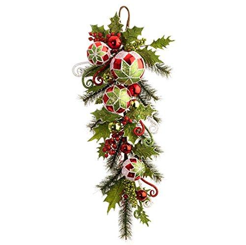 RAZ Imports – 32″ Christmas Holly Ball Swag