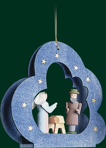 Hanging Christmas Tree Ornament Holy Family, 3.6 Inches