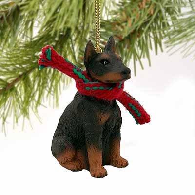 Doberman Pinscher Miniature Dog Ornament – Red