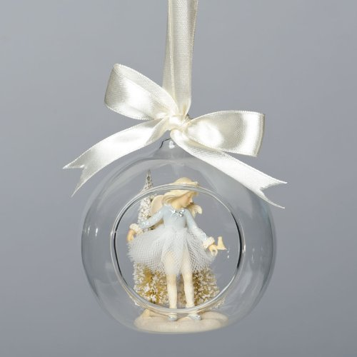 Enesco Foundations Ballerina Glass Dome Ornament by Artist Karen Hahn, 3.74-Inch