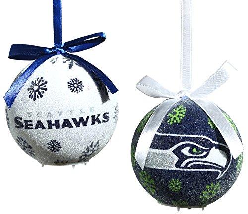 Seattle Seahawks LED Ornament Set