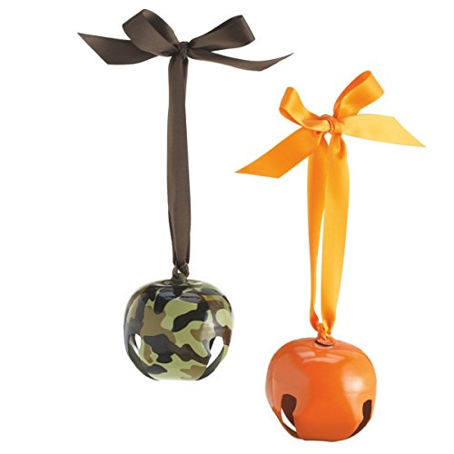 Hunting Jingle Bell Christmas Tree Ornament – Set of 2