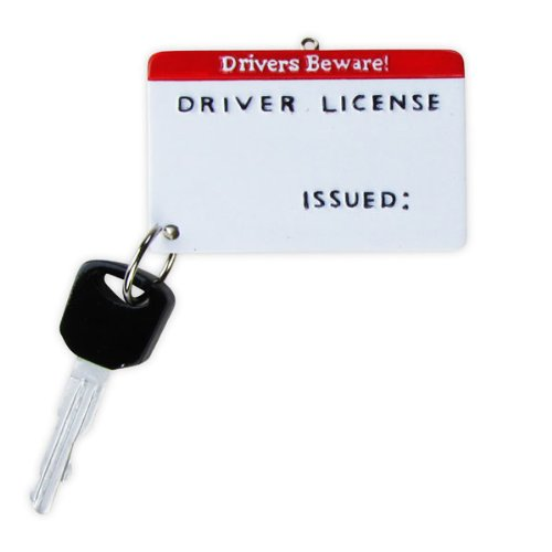 New Driver License Christmas Ornament