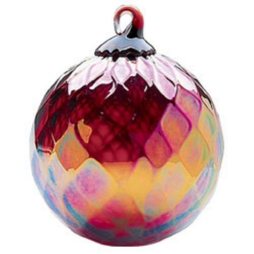Glass Eye Studio Classic Ruby Diamond Ornament
