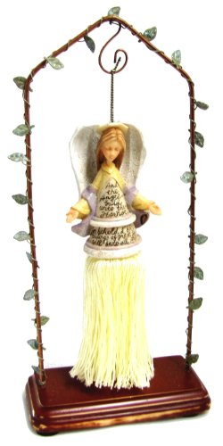 Enesco Foundations By Karen Hahn Angel Ornament with Stand Collectible Figurine 112718