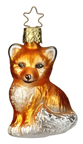 Fox Pup, #1-019-15, from the 2015 Fairytale Forest Collection by Inge-Glas Manufaktur; Gift Box Included