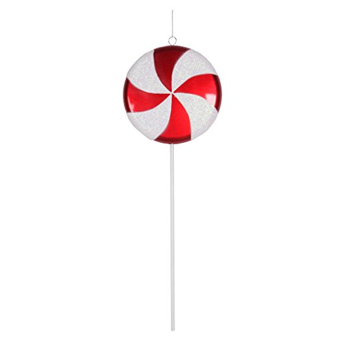 Vickerman 377031 – 17″ Red / White Swirl Glitter Candy Lollipop Christmas Tree Ornament (M152013)