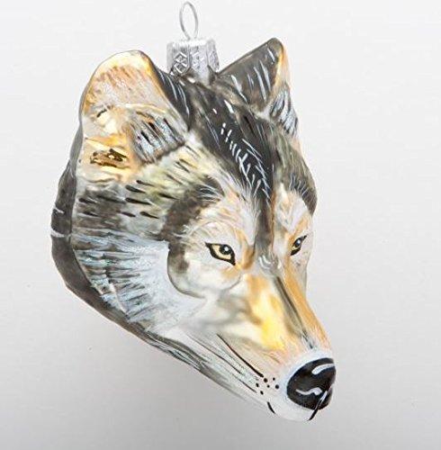 Christinas World Call of the Wild Wolf Figural Polish Glass Christmas Ornament