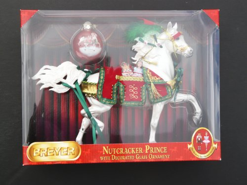 Breyer Nutcracker Prince with Decorated Glass Ornament