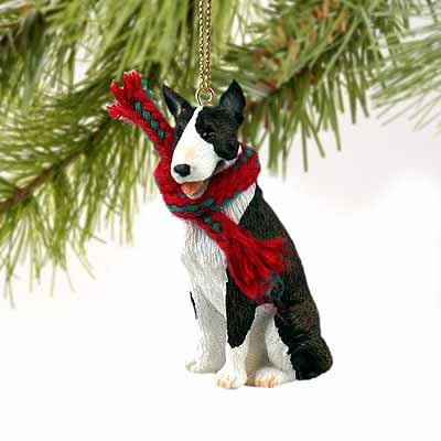 Bull Terrier Miniature Dog Ornament – Brindle