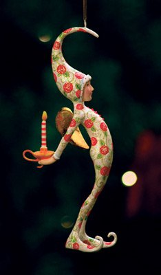 6.25″ Patience Brewster Krinkles Rose Pajamas Fairy Figure Decorative Christmas Ornament