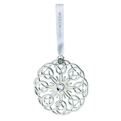 Wedgwood Pierced Star Christmas Ornament, Silver