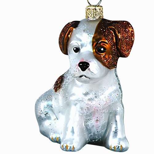Ornaments To Remember Parson Russell Terrier (White/Tan) Hand-Blown Glass Ornament