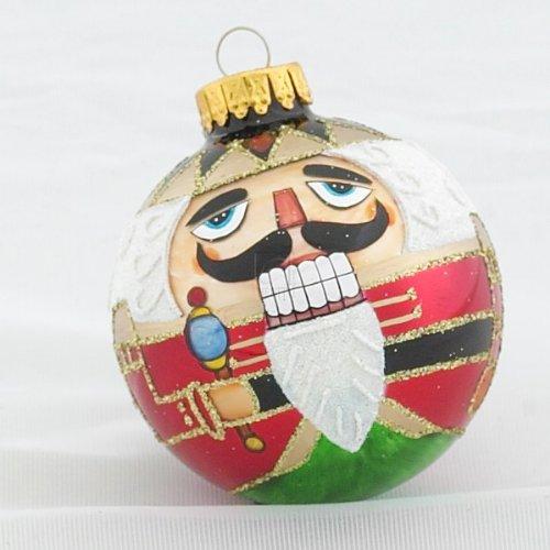 Kurt Adler Nutcracker Design Glass Ball Ornament, 65mm, Set of 4