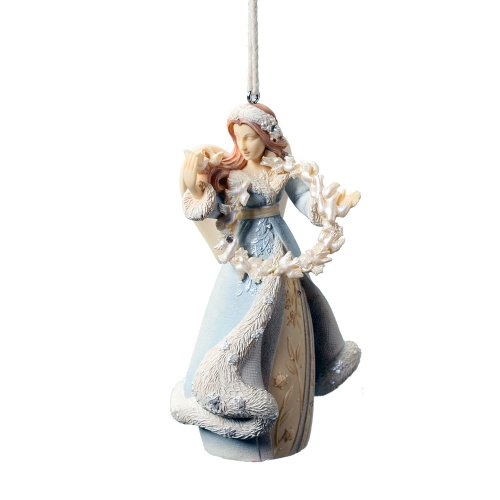 Enesco Foundations Angel with Dove Ornament, 4-Inch