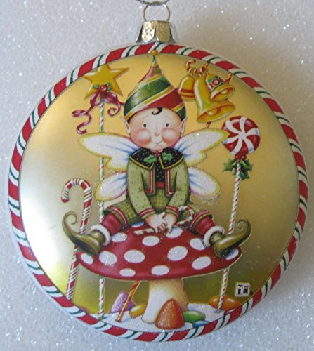 Mary Engelbreit Design Christmas Ornaments Choose From 3 Styles (Gold)