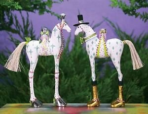 Patience Brewster Anabelle and Arthur Horse Ornament Set 08-30897