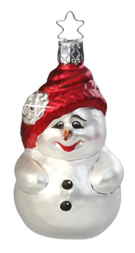 Fancy Sno Friend, #1-013-15, from the 2015 Christmas Visions Collection by Inge-Glas Manufaktur; Gift Box Included
