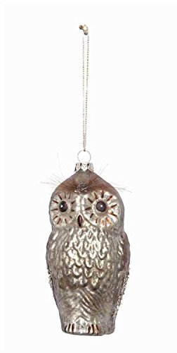 Glass Owl Hanging Christmas Tree Hanging Ornament