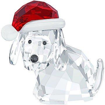 """Swarovski """"Dog with Santa's Hat"""" Figurine"""