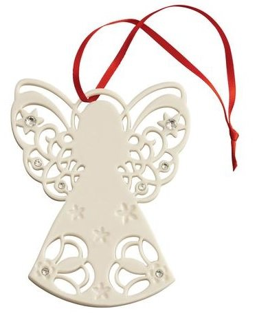 Belleek 7528 Angel with Gems, 3.7-Inch, White