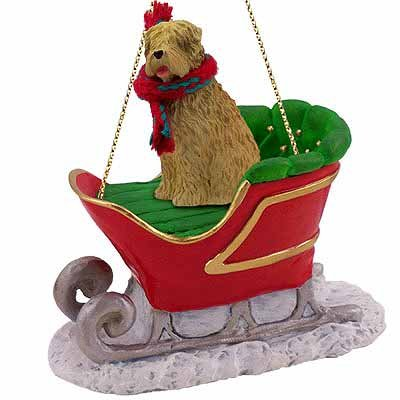 Soft Coated Wheaten Terrier Sleigh Dog Christmas Ornament