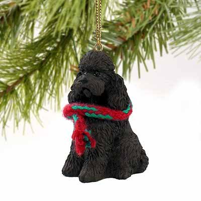 Poodle Sportcut Miniature Dog Ornament – Chocolate