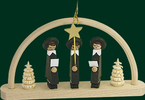 Hanging Christmas Tree Arc Shaped Ornament Carolers, 1.8 Inches