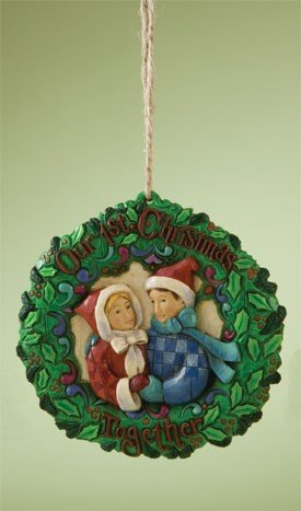 Jim Shore First Christmas Together Ornament