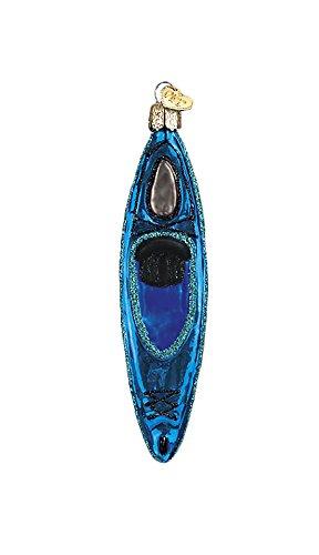 Old World Christmas Blue Kayak Ornament